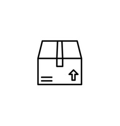 package box icon vector image