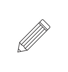 pencil thin line icon edit outline vector image