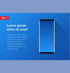 Phone mobile smartphone design on blue background vector
