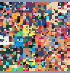 Pixel art glitch colorful geometric seamless vector
