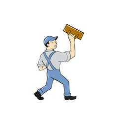 Plasterer Masonry Trowel Cartoon vector