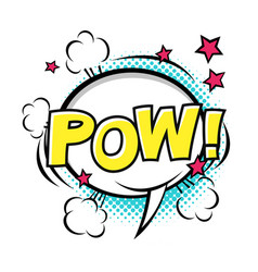 pow comic speech bubble comic sound cartoon vector image
