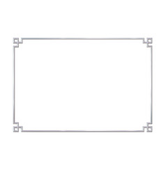 Rectangle realistic frame metal or silver vector