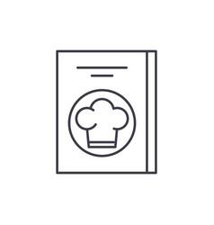 restaurant bill line icon concept restaurant bill vector image