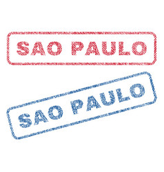 Sao paulo textile stamps vector