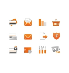 Set of Finance Icons vector
