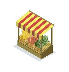Shopping zone isometric 3d icon vector