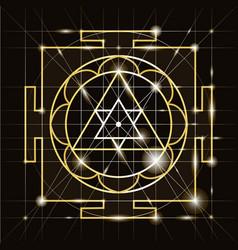 Sree ganapati yantra sacred geometr vector