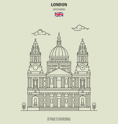 st pauls cathedral in london vector image