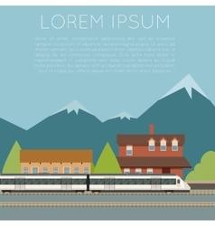 Suburban train banner vector image