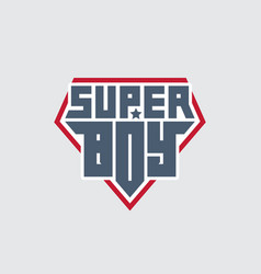 Super boy - t-shirt print patch with lettering vector