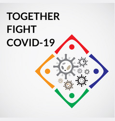 Together fight corona vector