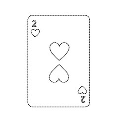 Two of hearts french playing cards related icon vector