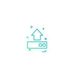 uploading icon design vector image
