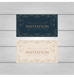 Vintage Ornament wedding invitation design vector image vector image