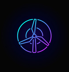 windmill concept colorful icon vector image