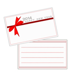 2014 New Year Cards with Red Ribbon vector image