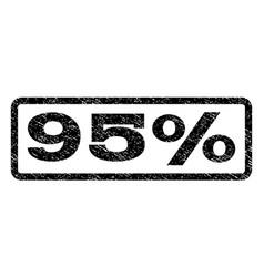 95 percent watermark stamp vector
