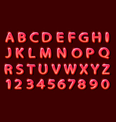 comics red font on the black background vector image