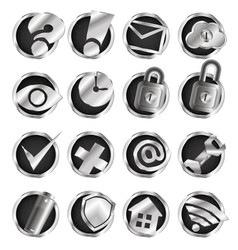 computer and internet icons set vector image