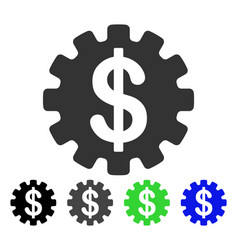 development cost flat icon vector image vector image