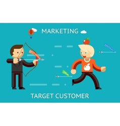 Marketing target customer vector image vector image