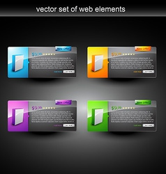 web product display vector image