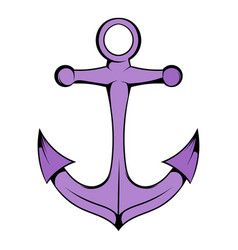 anchor icon in icon cartoon vector image