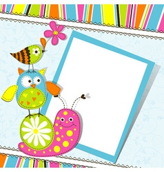 Cute animals Greeting Card vector image vector image