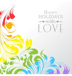 Happy valentines greeting card vector