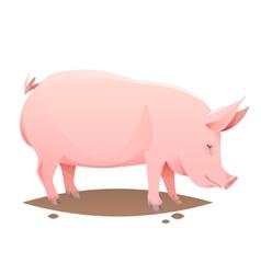 Pink farm pig vector image vector image