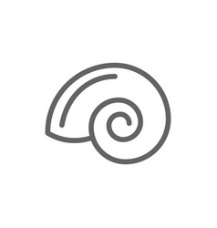 simple shell line icon symbol and sign vector image