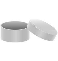 Template white round open box vector image