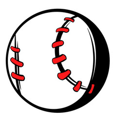 baseball ball icon icon cartoon vector image vector image