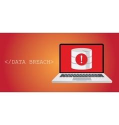 data breach security warning vector image