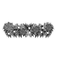 figure wreath with balls icon vector image vector image