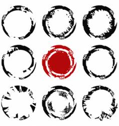 grunge circle stains vector image vector image