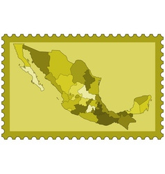 Mexico on stamp vector image vector image