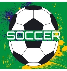 soccer typography t-shirt graphics vector image