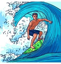 Surfer Man Background vector image