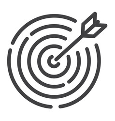 target line icon business and dartboard vector image