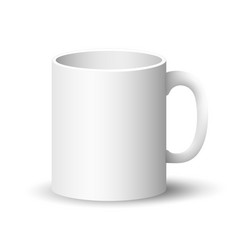 white mug isolated vector image