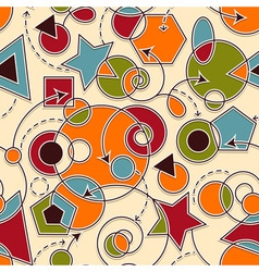 Abstract seamless composition vector