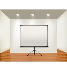 empty presentation screen vector image vector image