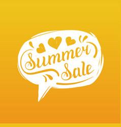 summer sale lettering in speech bubble season vector image vector image