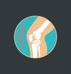 symbol of knee joint bones for orthopedic vector image vector image