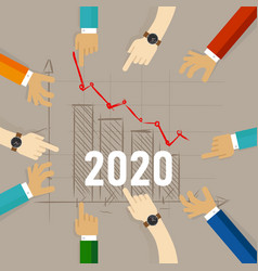 2020 chart going down concept recession vector image