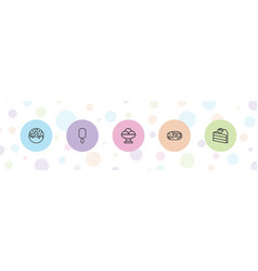 5 chocolate icons vector
