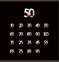 50 years anniversary celebration number black vector