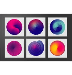 abstract form with curl lines and vibrant color vector image